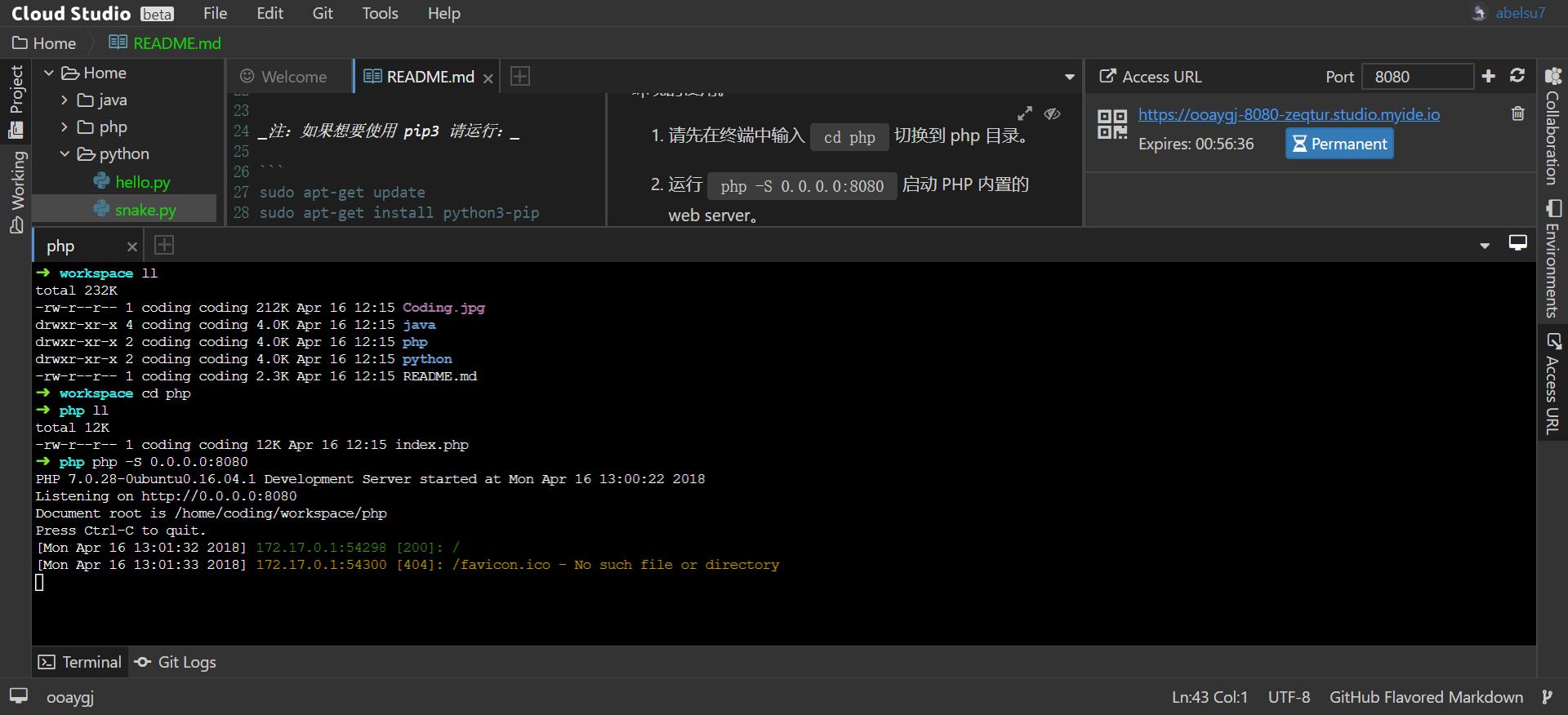 PHP Web Demo