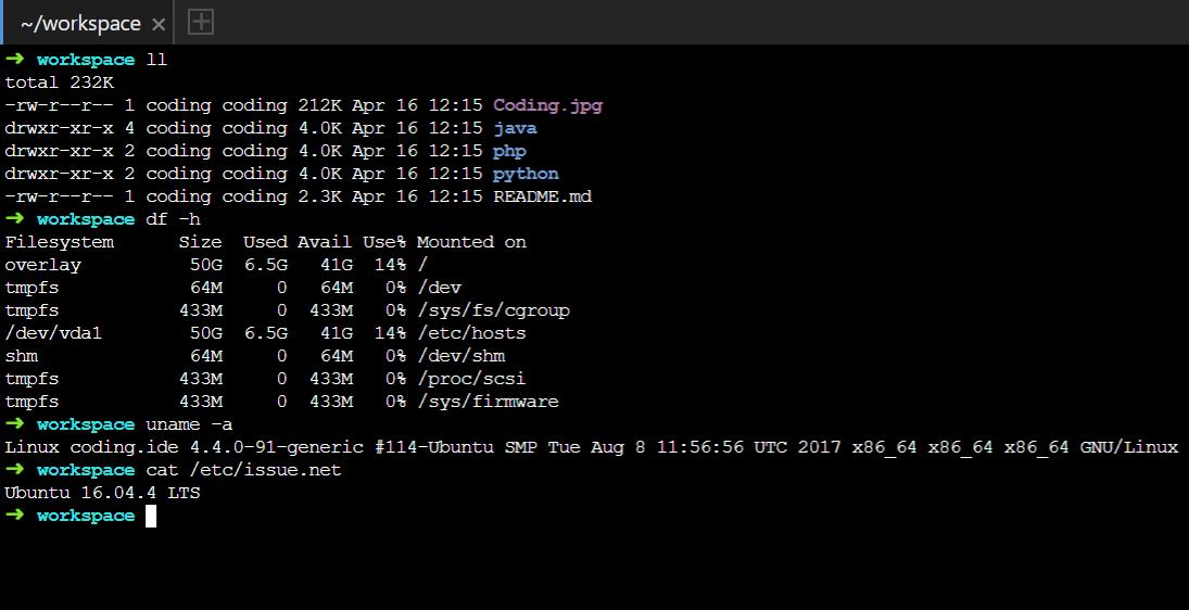 云主机系统为Ubuntu 16.04.4 LTS
