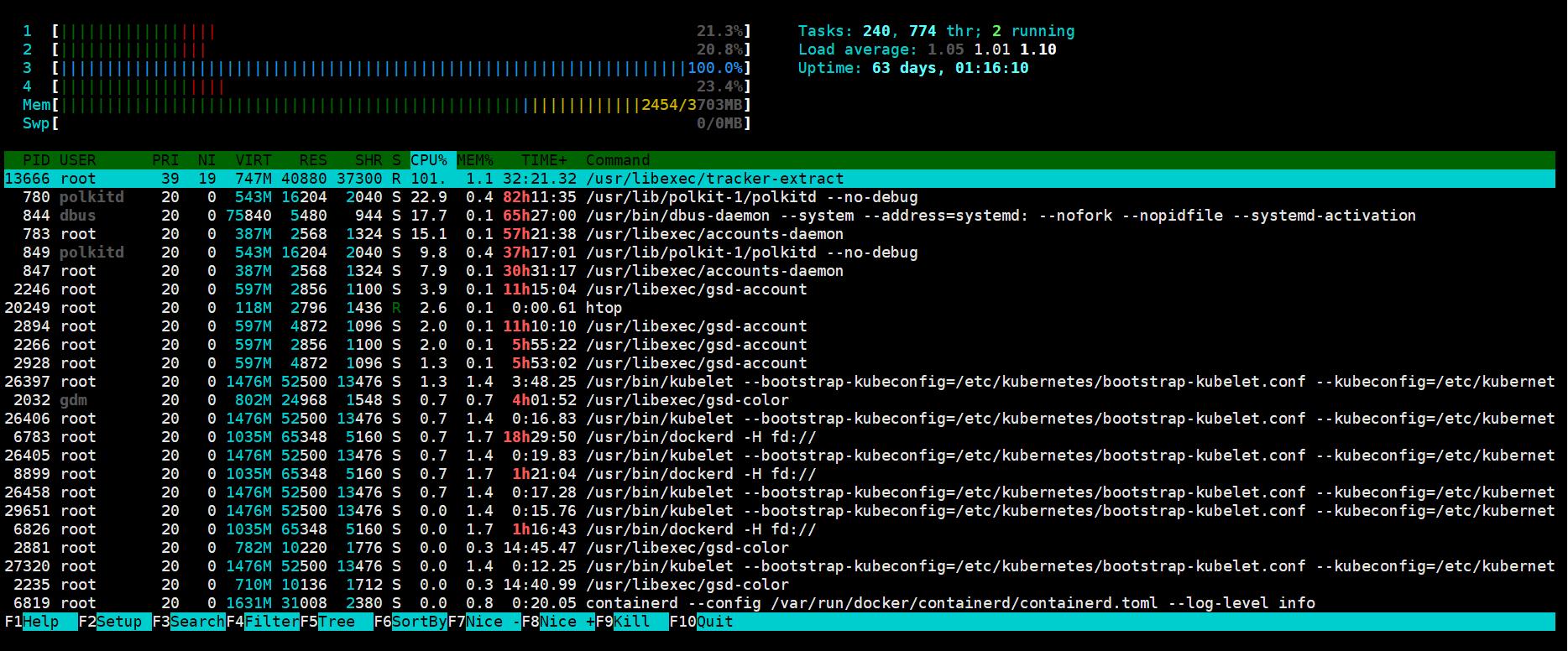 解决CentOS 7 tracker CPU 占用率100%   Keep Coding   苏易北